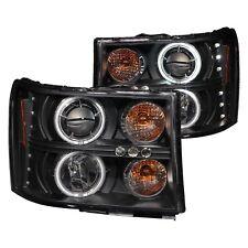 For GMC Sierra 2500 HD 07-14 Black CCFL Halo Projector Headlights w Parking LEDs