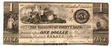 1839 Washington County Bank Calais Maine Bank Note $1