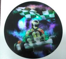 go kart trophy parts lot of 23 mylar inserts 2' diameter checkered flag winner