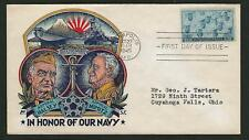 Scott # 935 US Navy Issue FDC w/ Multi-Colored Staehle Cachet, VF