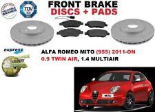 para ALFA ROMEO MITO 955 0.9 1.4 2010- Discos freno Delantero Set + pastillas de