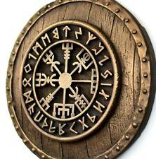 Vegvisir Viking Compass Wayfinder Shield Wall Bronze Art Sculpture Home Decor