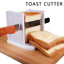 Bread Slice Sandwich Toast Slicer Guide Cutter Slicing Cutting E6Y4 Tool D6P5