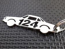 FIAT 124 SPIDER schlüsselanhänger 2000 DOHC 1:43 PININFARINA ABARTH TURBO emblem