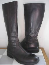 J CREW Brown Leather Tall Equestrian Riding Boot, Sz 8.5M, Made in Italy