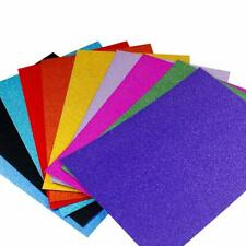 20X Glitter Paper Card 10Colors Sparkling Paper DIY Wedding Craft Party Decorate