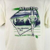Pine Mountain Trail Run T Shirt Vintage 80s Ultramarathon Made In USA Size Large