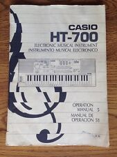 Casio HT-700 Electronic Keyboard Original 93 Page Owners Opertion Manual / Book