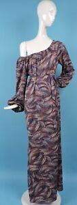 VINTAGE 1970'S DESIGNER CHRISTIAN DIOR LONG JERSEY DRESS W MATCHING BELT