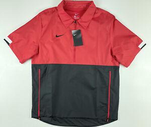 Nike 1/2 Zip Windbreaker Red Stripe Jacket CI4479-658 Medium $65