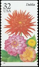 US 2995 Garden Flowers Dahlia 32c single (1 stamp) MNH 1995