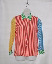 Linea by Louis Dell'Olio Novelty Silk Shirt Size S Stripe