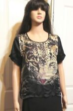 LADIES VALLEY GIRL SHORT SLEEVED TIGER TOP SIZE 10