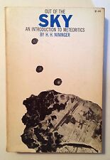 Out of the Sky: An Introduction to Meteoritics by H.H. Nininger (Softcover)