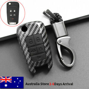 Black Carbon for Chevrolet 5 Buttons Flip Key Cover Fob for Holden VF for Buick