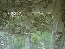 Polyester Floral Tape Top Net Curtains