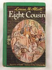 1917 BOOK-EIGHT COUSINS OR THE AUNT HILL-LOUISA M. ALCOTT-HARDCOVER-PF COLLIER