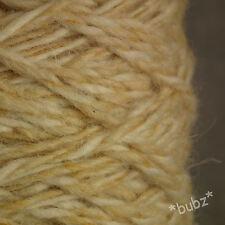 BERBER RUG WOOL ECRU & SAND TWIST 450g CONE LATCH HOOK CARPET WEAVE YARN BB10