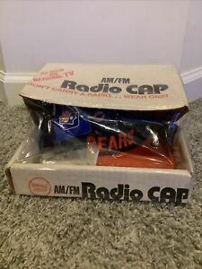 Vintage Chicago Bears AM FM Radio W/ Earbuds NFL Snapback Hat Cap NEW Sealed