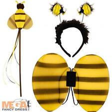 Bumblebee Wings, Wand & Headband Fancy Dress Kids Childrens Childs Bee Costume