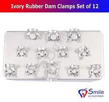 Rubber Dam Instruments Restorative Endodontic Clamp Set Of 12 Kofferdamklammern