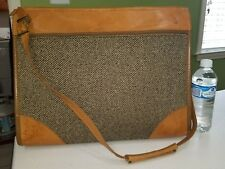 Vintage Hartmann Brown Tweed Overnight/Carry On Bag  w/Leather Trim ORIGINAL KEY