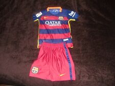Barcelona Messi Nike kids youths  football soccer shirt jersey shorts kit