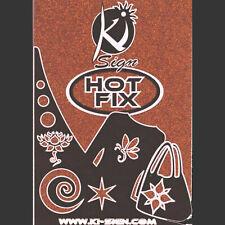 Tissu thermocollant Pailleté Orange - Ki-sign
