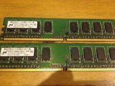 Micron 2GB (2x1GB ) 1Rx8 DDR2 PC2 6400U 800MHz Desktop RAM Memory Kit Paired