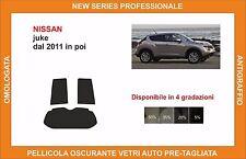 pellicola oscurante vetri pre-tagliata Nissan juke dal 2011 in poi kit post