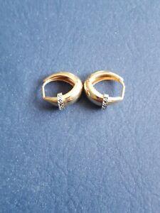 Gold Huggie Style Earrings