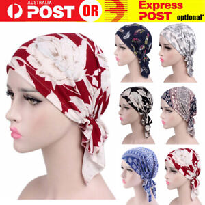 Women's Floral Chemo Cap Cancer Hat Muslim Hair Scarf Hijab Head Wrap Turban NEW