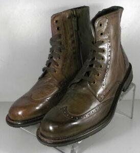 272210 DFBTi60 JOHNSTON MURPHY LOFTING WINGTIP MEN'S BOOTS 8.5 BROWN ITALIAN