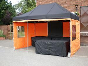 2,7 x 4 m Marktzelt Marktstand Faltzelt Expresszelt Pavillion Verkaufszelt Zelt