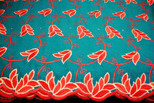 poly cotton embroidery lace fabric, african design textile in 10 colors