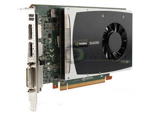 HP Tarjeta NVIDIA Quadro 2000 612952-002 616075-001 1GB GDDR5 PCI-e DVI 2X Display