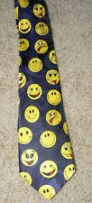 Yellow SMILEY FACE Happy Day Smile Whimsical Theme Man's Neck Tie