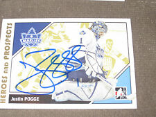 JUSTIN POGGE AUTOGRAPHED 2007-2008 ITG HEROES AND PROSPECTS CARD