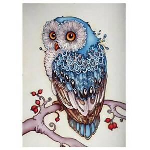 Owl Diamond Painting Full Drill Kit Embroidery Cross Stitch Craft Art Home Decor