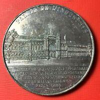 #4906 - Médaille Palais de l'industrie 1855 en Etain Eugénie impératrice Caqué R