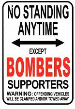 AFL Essendon Bombers No Standing Except Bombers Supporters Sign Poster