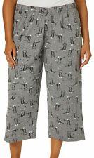 Hue Plus Kitty Print Capri Pajama Bottoms