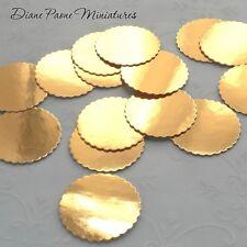25 GOLD Foil Bakery Boards for Dollhouse Miniature Food Cakes & Bakery Treats