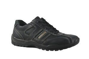 Imac Italia Black leather laced comfort shoe. EU40 - 43. MADE IN ITALY