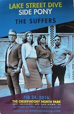 Lake Street Dive/Side Pony/Suffers 2016 San Diego Concert Tour Poster-Rock Music