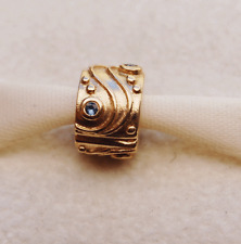 "Gen. Pandora 14ct. Gold Clip with Sapphire ""Babbling Brook"" - 750418SA - retired"