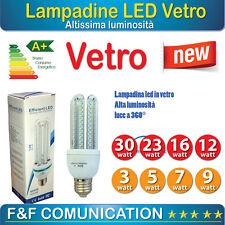 LAMPADINA LED VETRO TUBI LED TRASPARENTE E27 3W 5W 7W 9W 12W 16W 20W 23W 30W