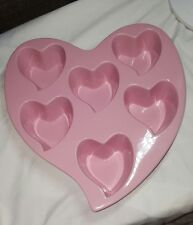 Chantal Stoneware 6 Cup Heart-Shaped Baking Dish/ freezer, oven, microwave safe