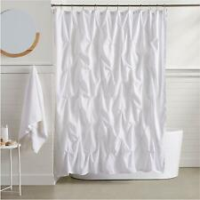 1619123372 CafePress Shabby Chic White Barn Wood Shower Curtain