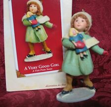 Hallmark 2003 A Visit From Santa Collection Ornament~A Very Good Girl